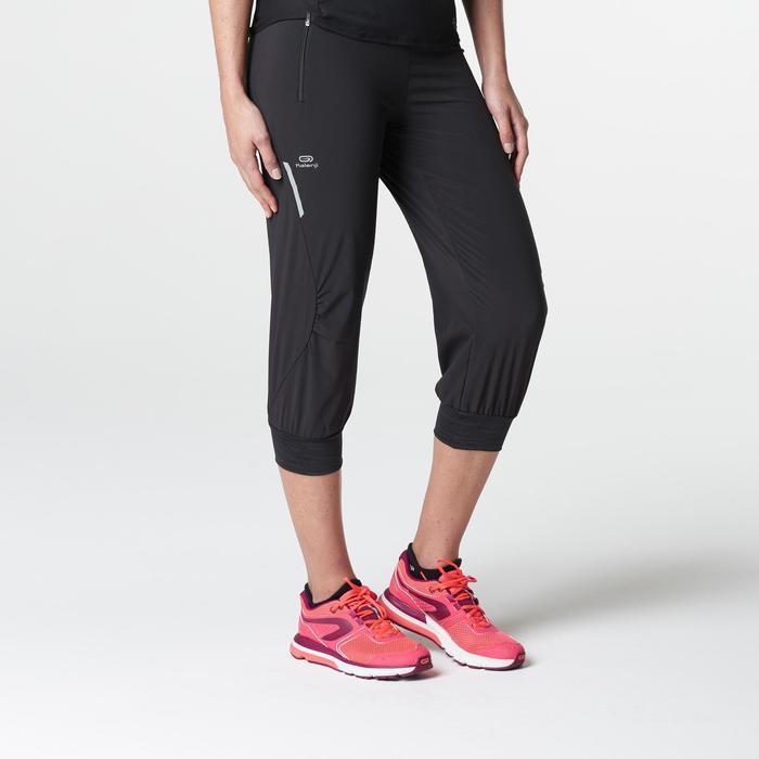 chic clásico nuevo diseño Venta de descuento 2019 Pantalón Pirata Deportivo Running Kalenji Run Dry Mujer Negro