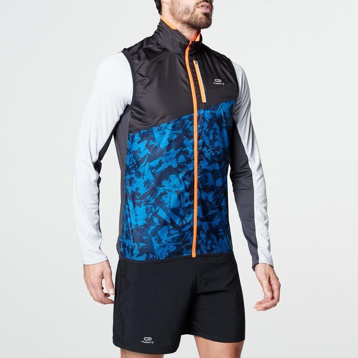 Veste sans manches coupe-vent trail running noir graph homme - 1105048