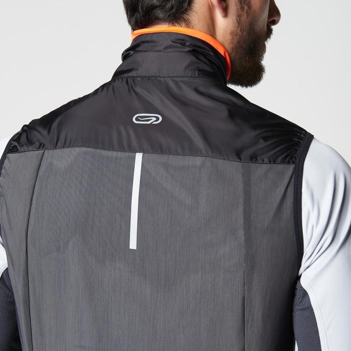 Veste sans manches coupe-vent trail running noir graph homme - 1105049