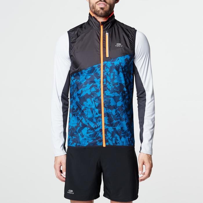 Veste sans manches coupe-vent trail running noir graph homme - 1105050