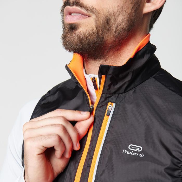 Veste sans manches coupe-vent trail running noir graph homme - 1105058