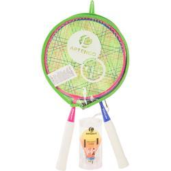 Badmintonset voor kinderen Discover roze/blauw