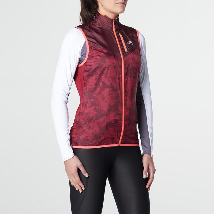 Veste sans manches coupe vent trail running gris graph femme - 1105224