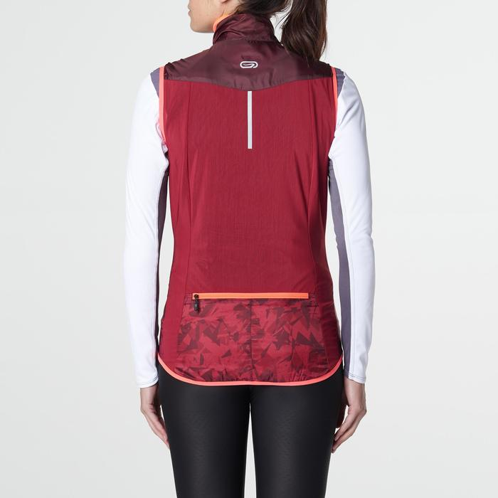 Veste sans manches coupe vent trail running gris graph femme - 1105227