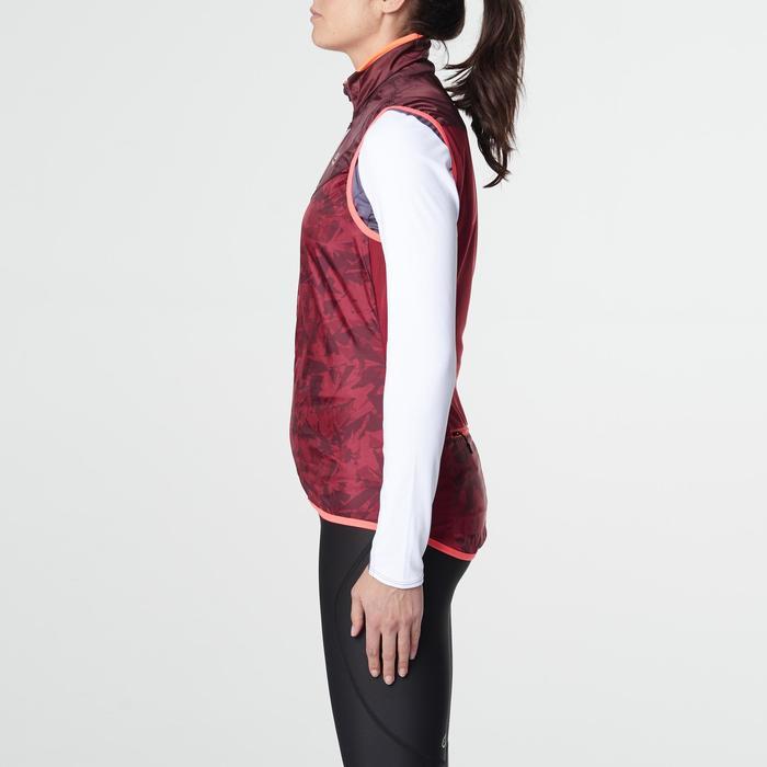 Veste sans manches coupe vent trail running gris graph femme - 1105229