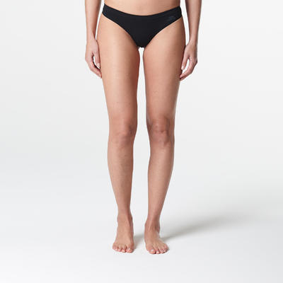 תחתוני חוטיני מאווררים לנשים לריצה - שחור