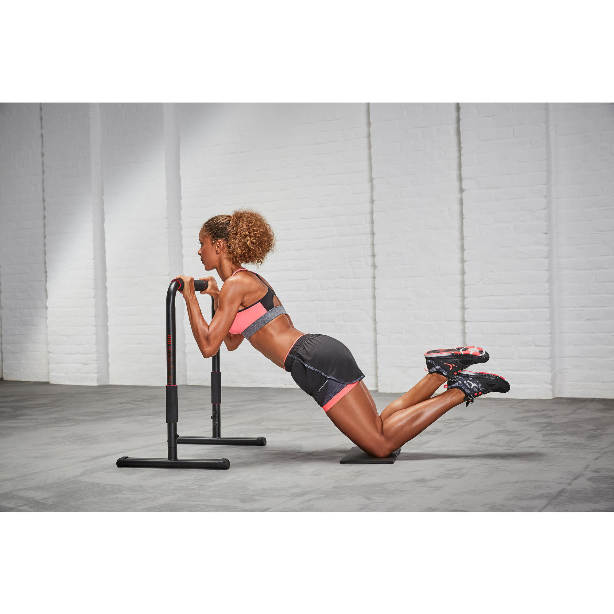 poign/ée parall/èle 1 Mousqueton pour Musculation Crossfit Musculation//Fitness//Sport C.P Poign/ée de Sport//poign/ée parall/èle//poign/ée de Triceps//Barre de tirage