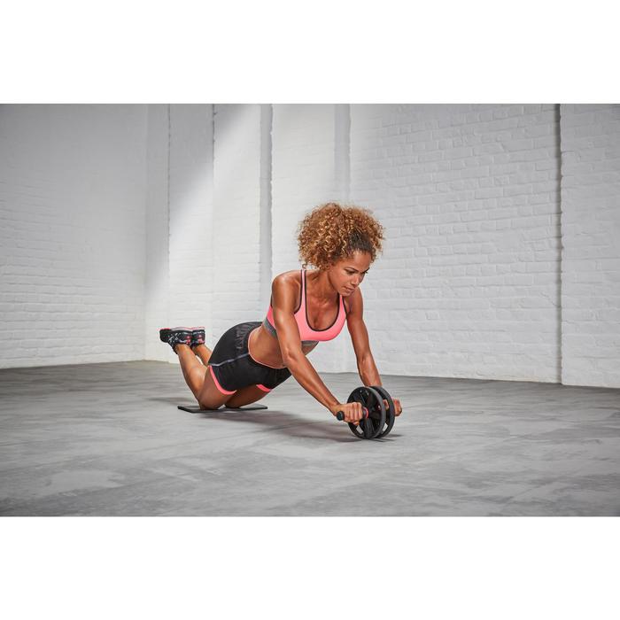 Rueda Abdominales Pilates Domyos AB Wheel Negro/Rojo Cross Training