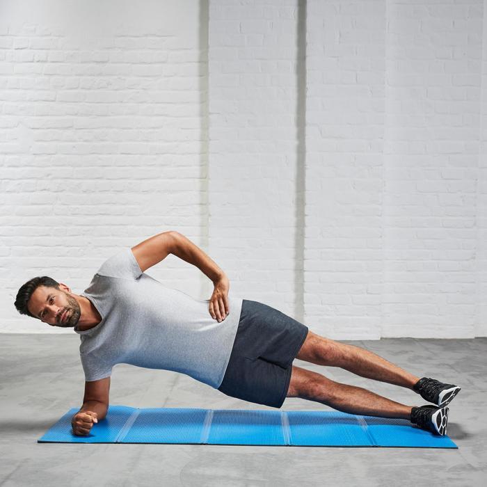 Opvouwbare gymmat 520 voor gym en stretching blauw