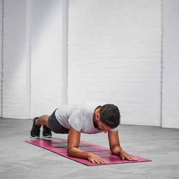 Gymmat 500 schoenbestendig en opvouwbaar pilates figuurtraining maat M 8 mm roze
