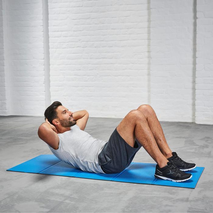 Gymmat 500 schoenbestendig opvouwbaar pilates figuurtraining maat M 8 mm blauw