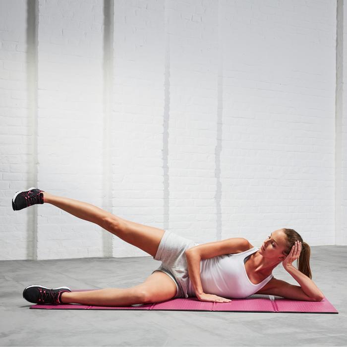 Fitnessmat schoenbestendig opvouwbaar roze maat M 8 mm