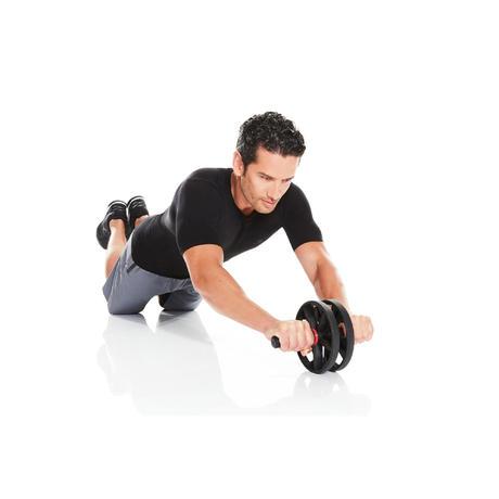 ab wheel cross training ab roller domyos by decathlon. Black Bedroom Furniture Sets. Home Design Ideas