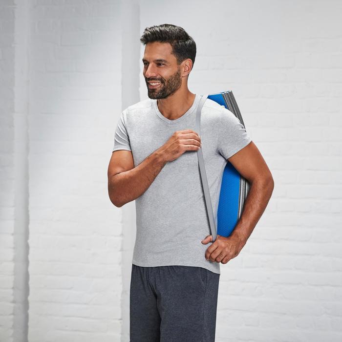Fitnessmat schoenbestendig opvouwbaar blauw 160 cm x 60 cm x 7 mm