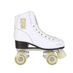 Rolschaatsen KRF School voor kinderen aluminium wit TCI
