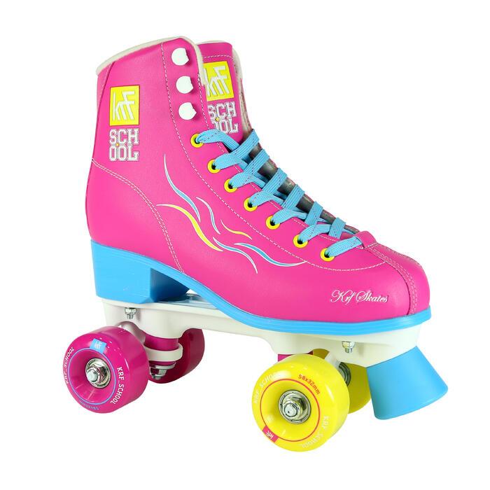 Patins à roulettes enfants QUAD KRF SCHOOL TCI Limited Edition Rose - 1105549