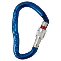 GOLIATH HMS SECURE SCREW SNAP HOOK FOR CLIMBING AND MOUNTAINEERING - BLUE