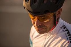 Fietsbril voor volwassenen Cycling 100 geel categorie 1 - 1105855