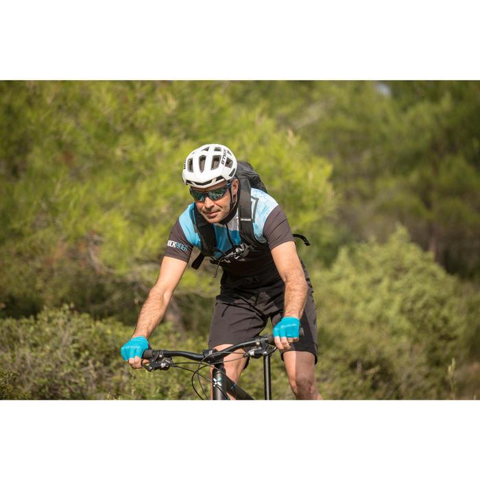 100 成人自行車太陽眼鏡套組 - 4組可切換鏡片- 藍色