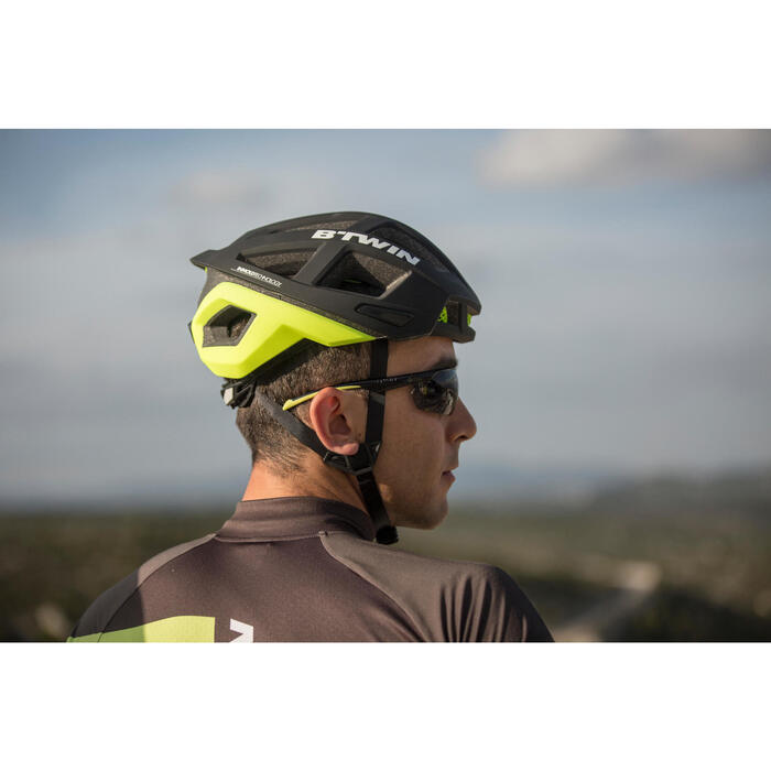MTB-Sonnenbrille ST 100 Kategorie 3 Erwachsene grau/gelb
