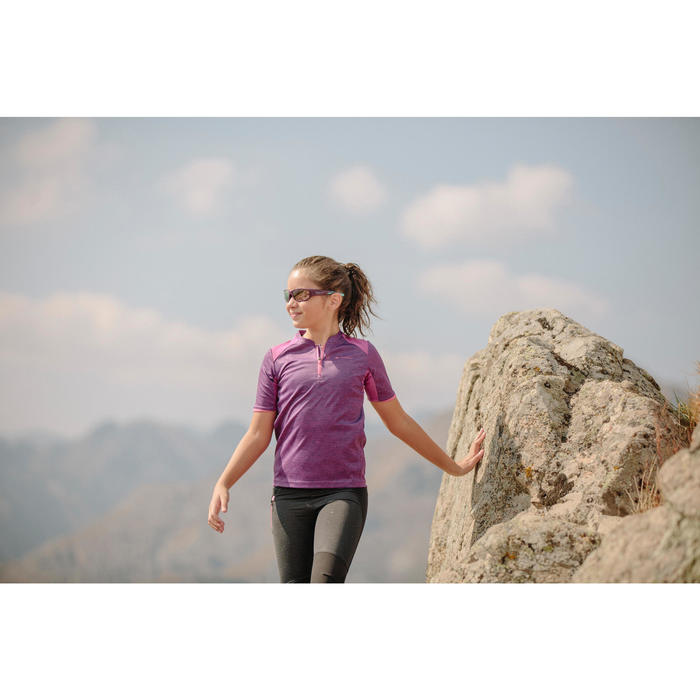 Lunettes de soleil randonnée enfant 9-11 ans MH T550 violettes catégorie 4