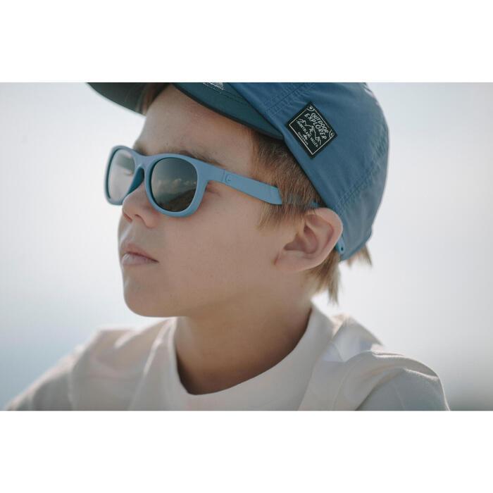 Gafas de sol travesía para niños + de 7 años TEEN 100 azul categoría 3