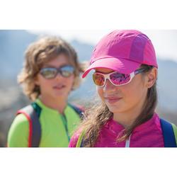 Sonnenbrille Wandern MH500 Kategorie 4 Kinder 8-10 Jahre weiß