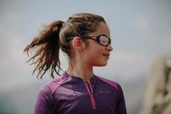 Zonnebril Teen 500 voor skiën en bergsporten, kinderen 7-10, wit, categorie 4 - 1106023