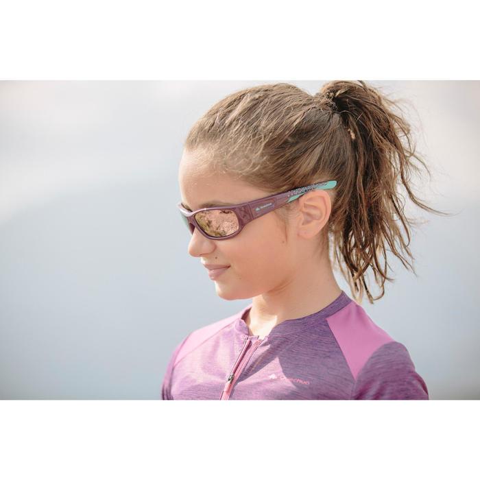 Lunettes de soleil randonnée enfant 9-11 ans MH T 900 violettes catégorie 4