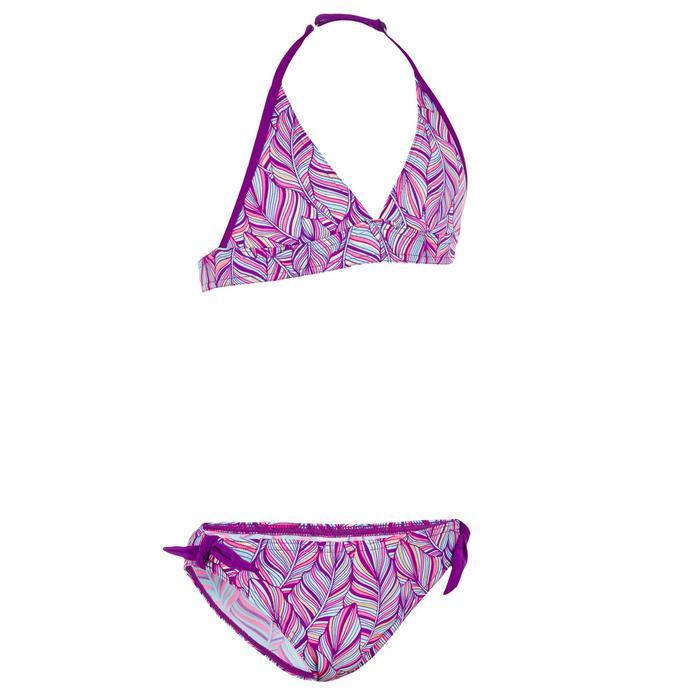 Bikini tipo fular para niña TAMI PALM violeta