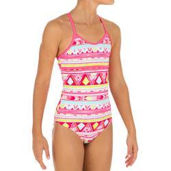 Badeanzug Haloa Geo gekreuzte Rückenträger Mädchen rosa
