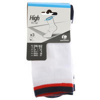 RS 160 Adult High Sports Socks Tri-Pack - White/Navy