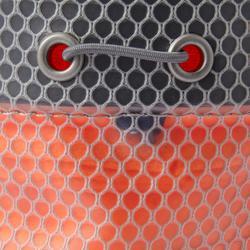 Magnesiumzak voor klimmen Honeycomb maat XL oranje fluo