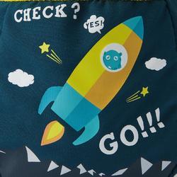 Magnesiumzak voor klimmen maat S Mountain Rocket petroleumblauw
