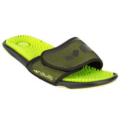 MEN'S TOPSLAP POOL SANDALS BLACK GREEN
