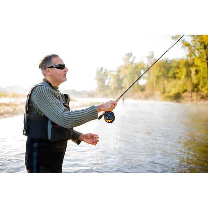 Gilet pêche 500 wading gris