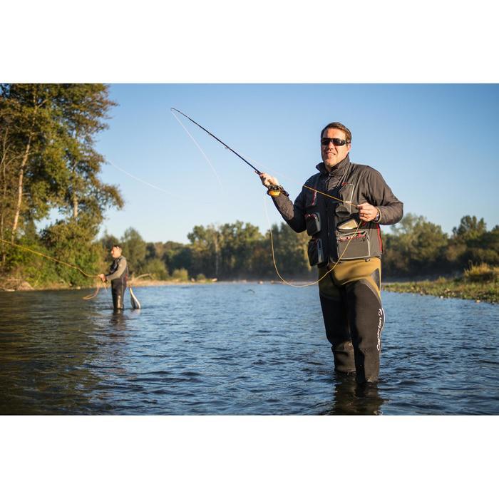 Chaleco de pesca para vadeador Caperlan 500 gris carbon