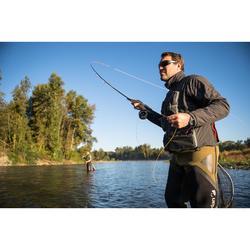 Gilet pêche 500 wad gris carbon CAPERLAN