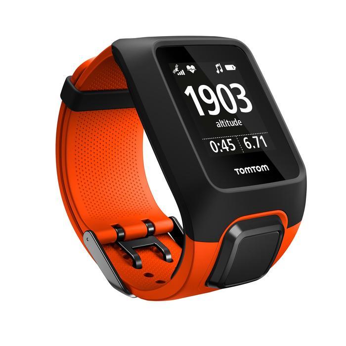 Montre de sport GPS Adventurer cardio + music au poignet orange/noire (taille L) - 1106887