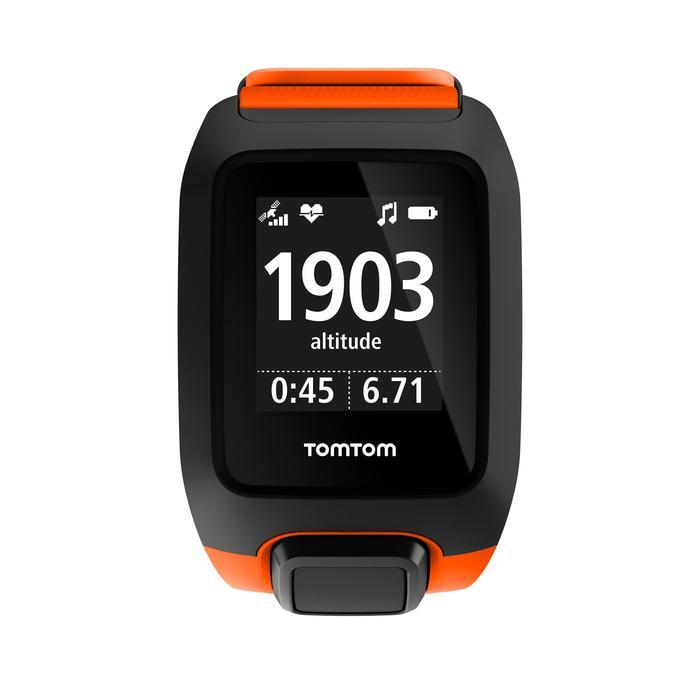 Montre de sport GPS Adventurer cardio + music au poignet orange/noire (taille L) - 1106888