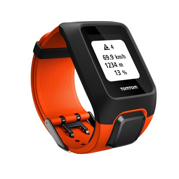 Montre de sport GPS Adventurer cardio + music au poignet orange/noire (taille L) - 1106891