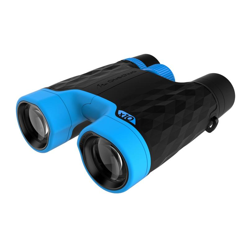 MH B 540 Adjustable Adult Hiking x10 Magnification Binoculars - Black/Blue