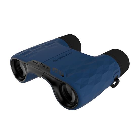 Verrekijker B500 wandelen, volwassenen, fixed focus, vergroting x10 blauw/zwart - 1106954