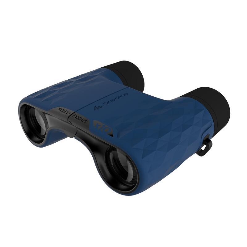 Binoculares para excursión adulto aumento x10 sin ajuste negro y azul