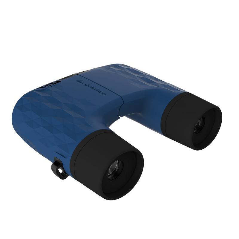 Binoculares de hiking adulto sin ajuste MH B 140 con aumento de x10 azules