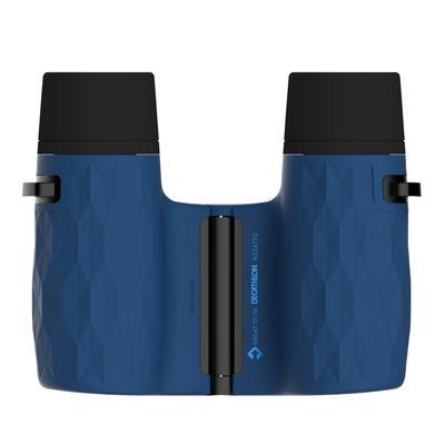 Binoculares excursionismo adulto aumento x 10 sin ajuste negro y azul.