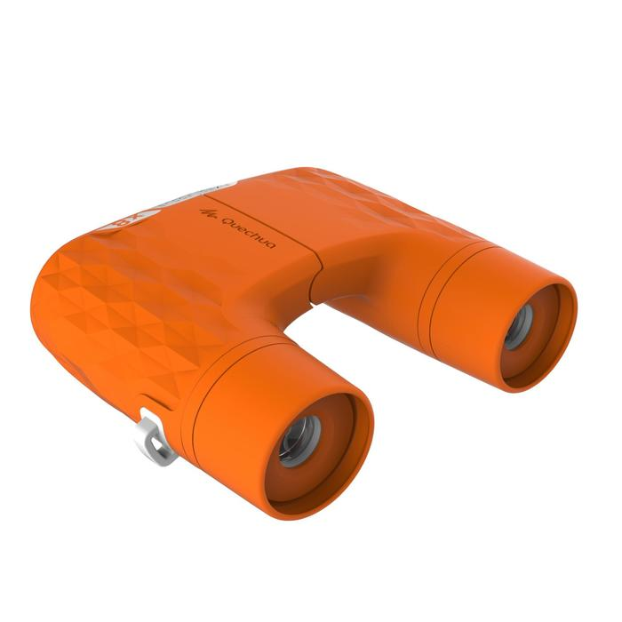 Kids' no adjustment hiking binoculars MH B120 8 X magnification - Orange