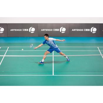 Heren T-shirt 860, voor badminton, tafeltennis, padel, squash, lichtblauw