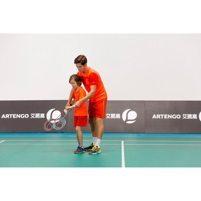 T-SHIRT TENNIS HOMME SOFT 100 ORANGE FLUO