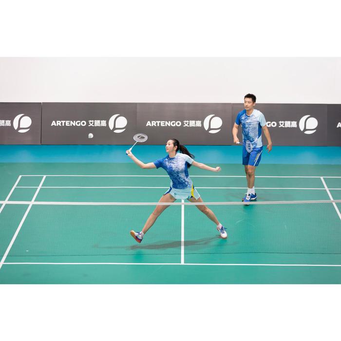 Badminton shirt 860 voor dames lichtblauw